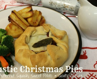Rustic Christmas Pies with Butternut Squash, Sweet Potato and Goat's Cheese - Suma Blogger's Network