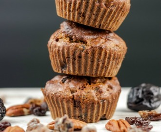Sugar & Wheat Free Fruit and Nut Breakfast Muffins