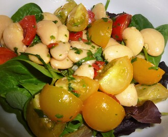 Herby Butterbean, Tomato and Chilli Salad Recipe – 5-2 Diet (Under 100 kcal)