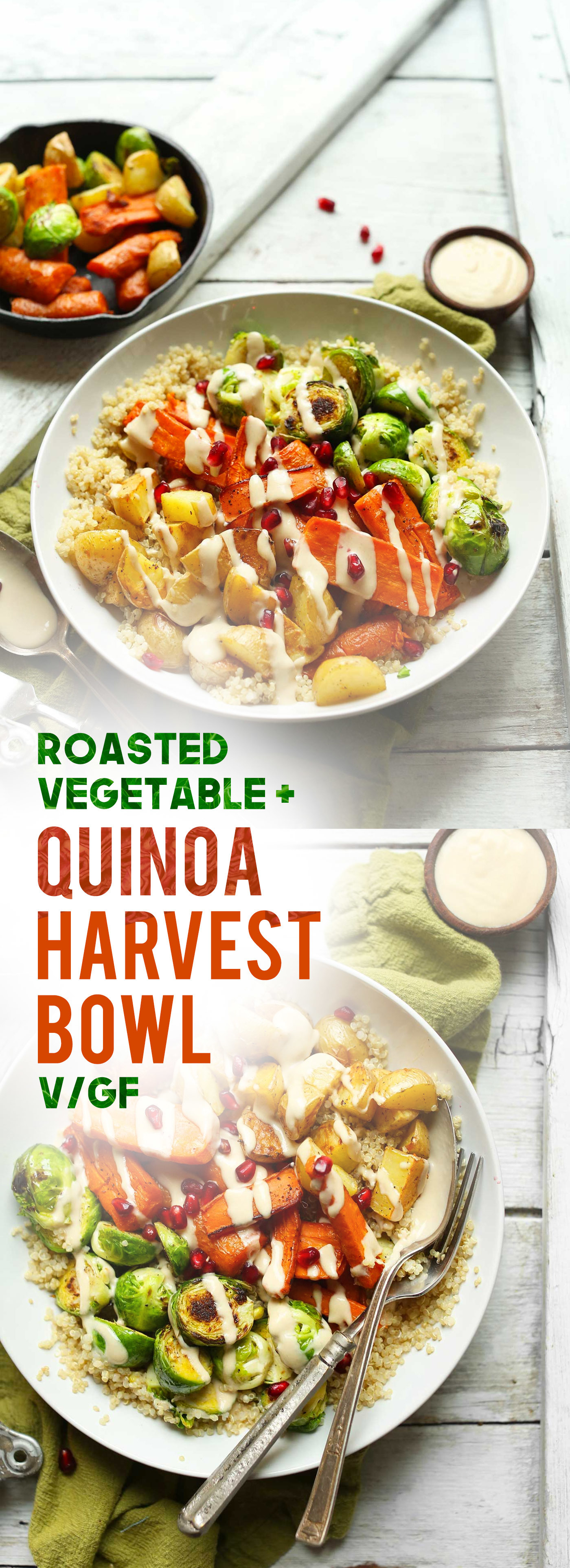 Roasted Vegetable & Quinoa Harvest Bowls
