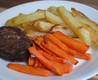 Healthy Vegetarian Steak and Chips recipe