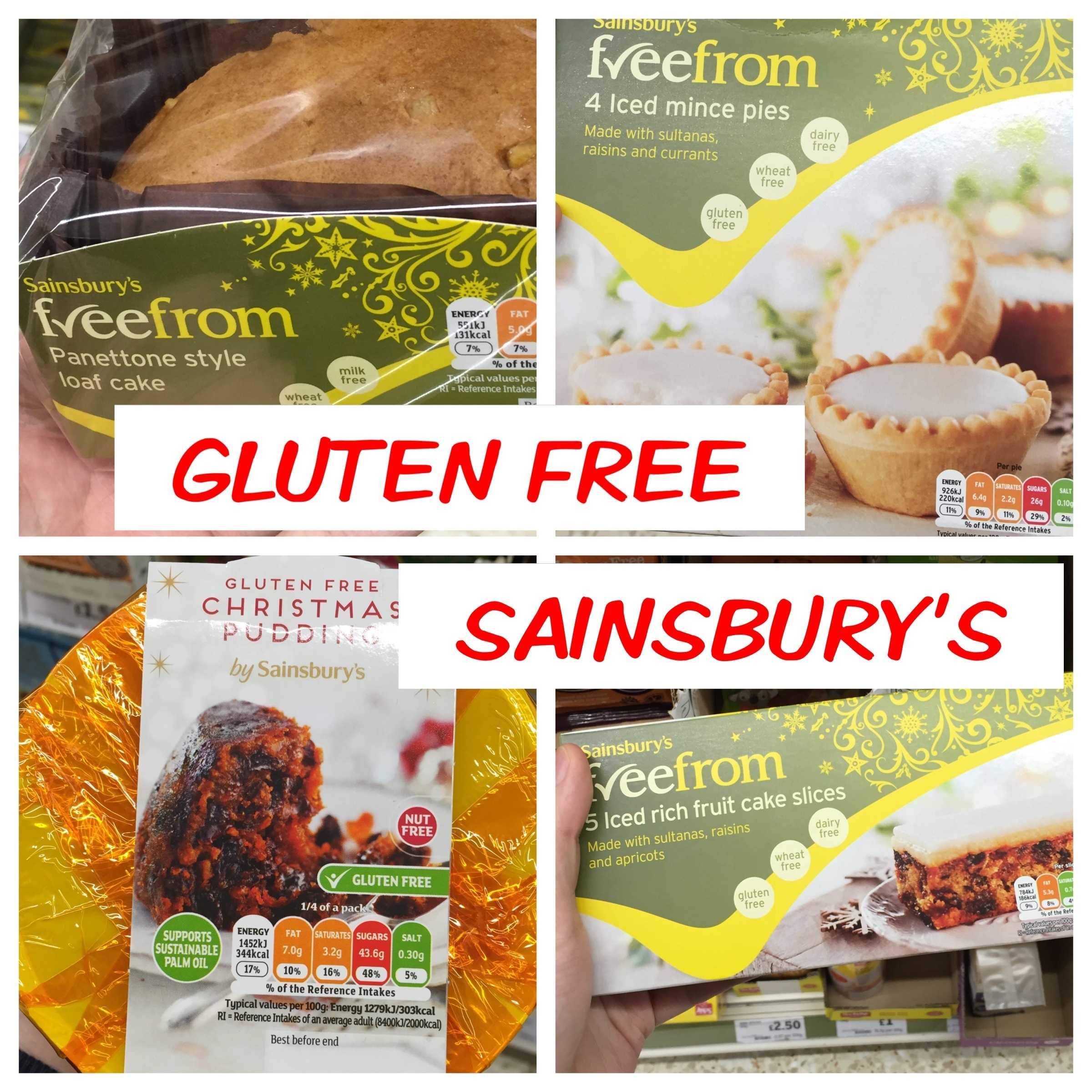 What Gluten Free Christmas Products are Sainsbury's selling this year?