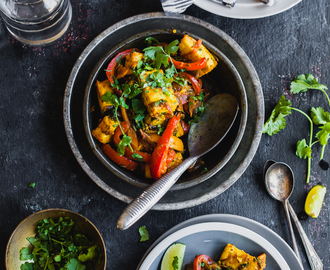 Paneer Jalfrezi (Cheese and Pepper Stir Fry)