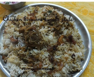 Chicken Dum Biriyani /malabar biriyani with fried chicken