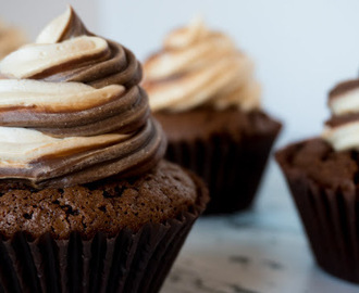 Chocolate brownie peanutbutter cupcake