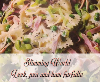 Slimming World Leek, Ham and Pea Faralle Recipe