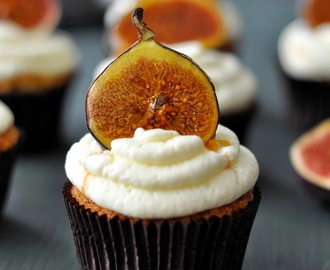 Feige Honig Mascarpone Cupcakes / Fig Honey Mascarpone Cupcakes