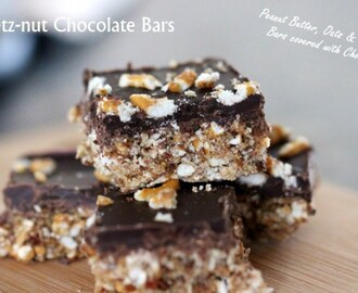 No Bake Pretz-nut Chocolate Bars