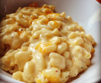 of Smoked Gouda and Sharp Cheddar Mac and Cheese