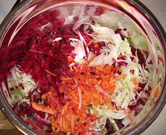 Beet, Carrot and Cabbage Salad Recipe