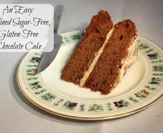 An Easy Gluten-Free, Refined-Sugar Free Chocolate Cake
