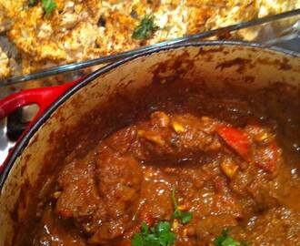 Coconut Beef & Red Pepper Curry with Roasted Tikka Cauliflower (LowCarb)