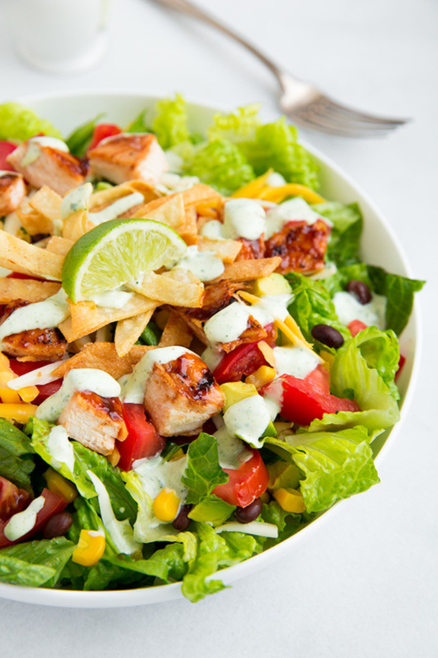 BBQ Chicken Salad with Cilantro Lime Ranch