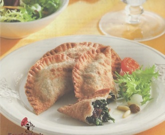Empanadillas de espinacas y requesón