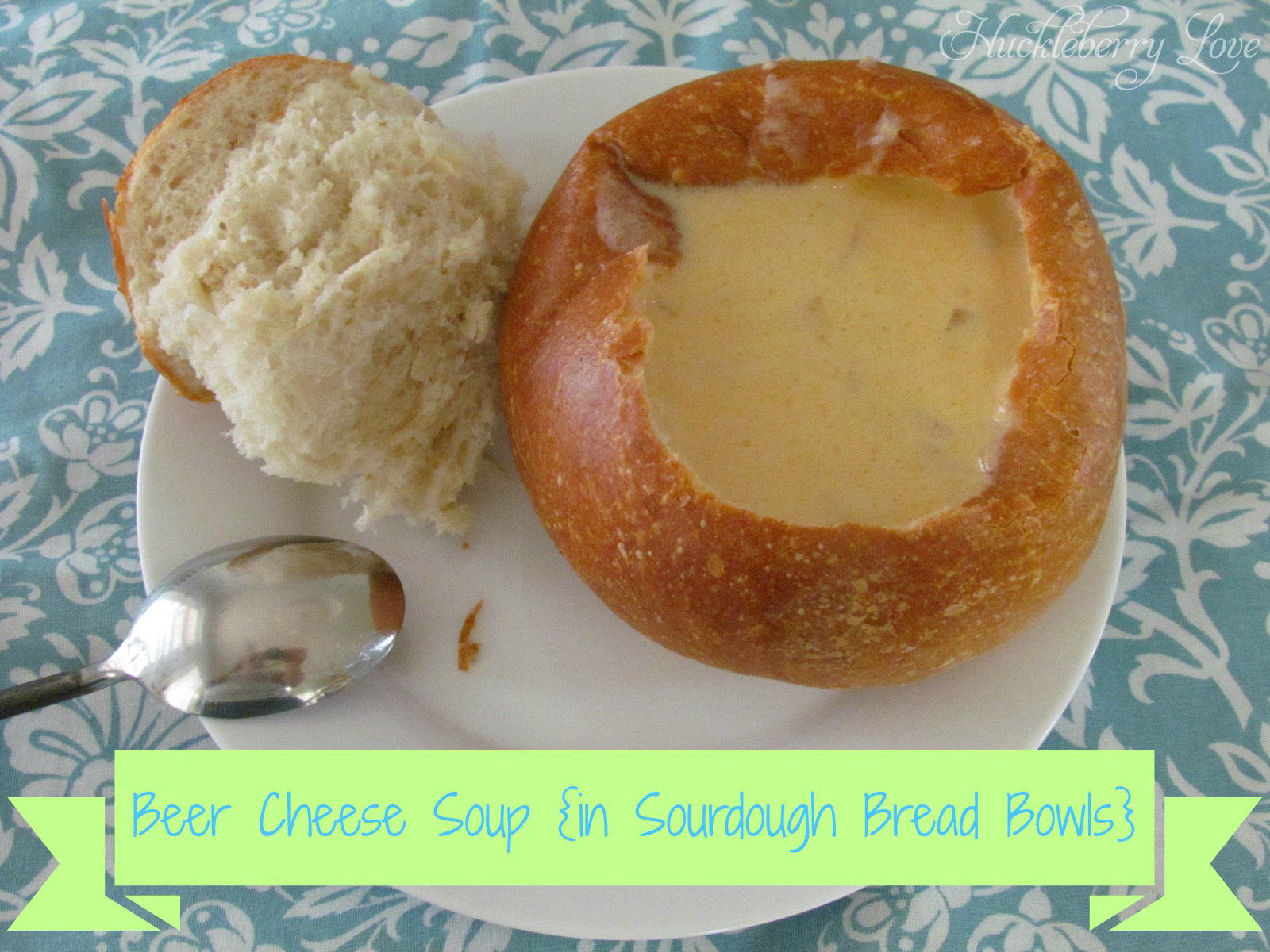 Beer Cheese Soup {in Sourdough Bread Bowls}