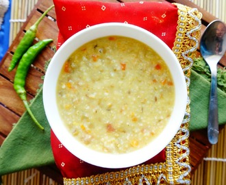 How to make Green Moong Dal Khichdi