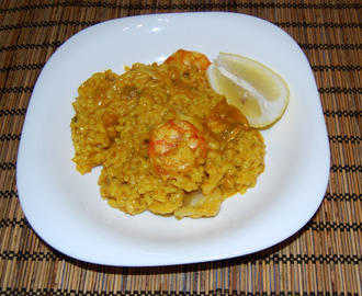 Paella de marisco (Thermomix)