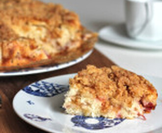 recipe: Buttermilk Rhubarb Streusel Cake