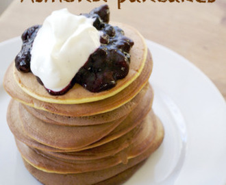 Healthy almond pancakes