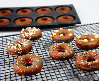 Mini Chocolate Cake Doughnuts - and Home Made Cake Release - Perfect for use with Silicone Moulds