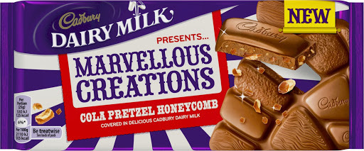 GIVEAWAY CADBURY MARVELLOUS CREATIONS COLA PRETZEL HONEYCOMB