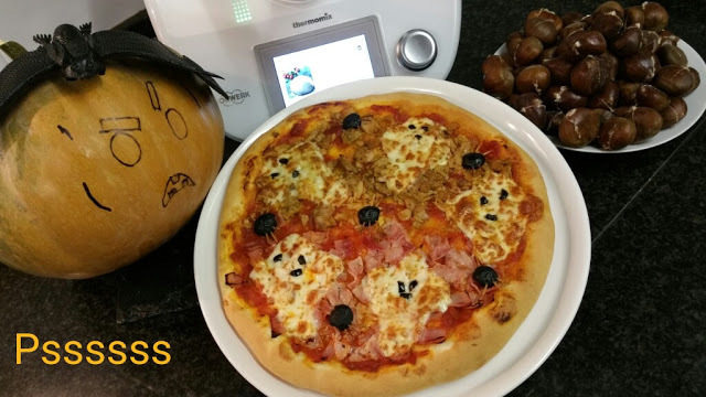 PIZZA DE HALLOWEEN EN THERMOMIX ®