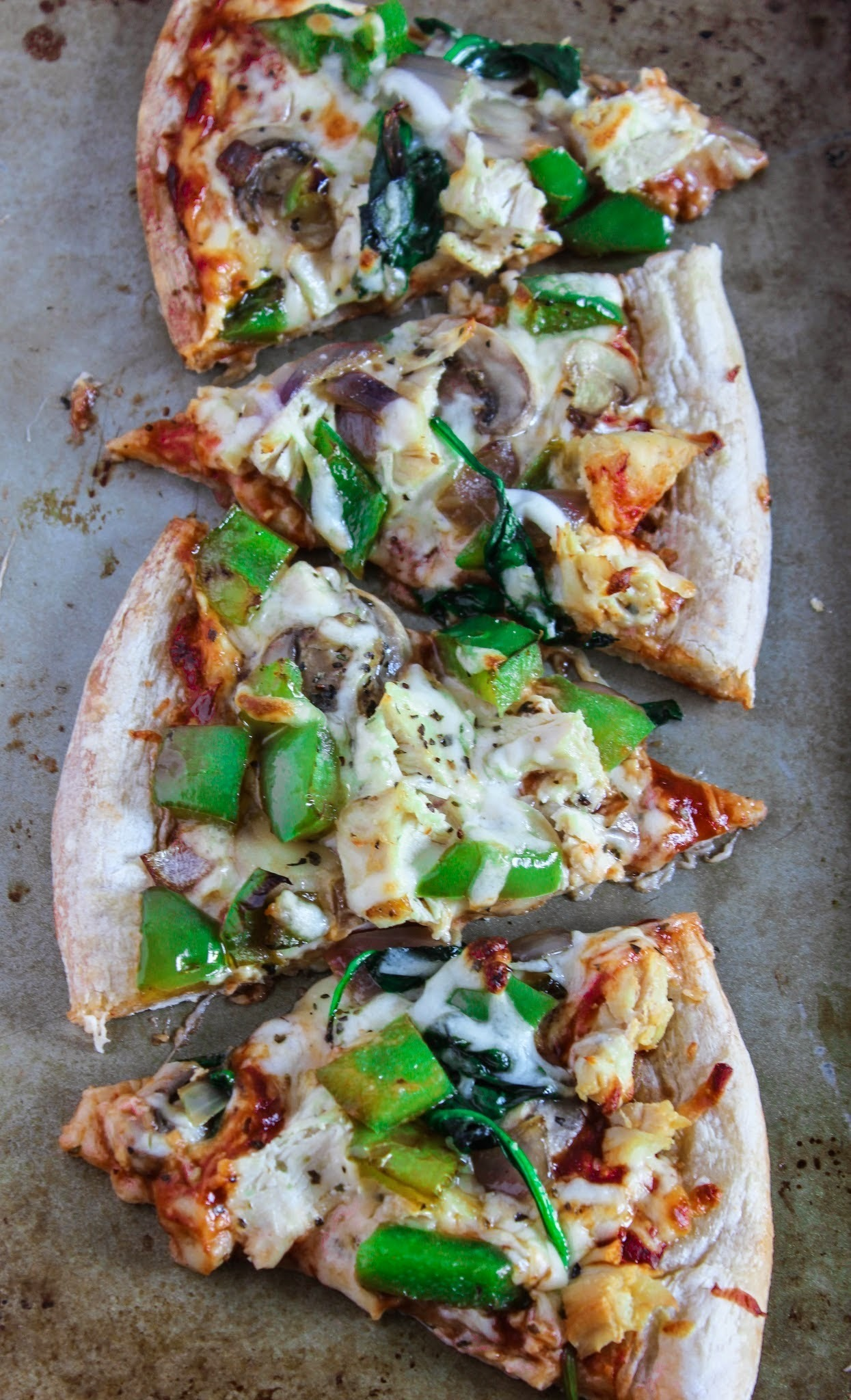 Chicken & Veggie Pizza!