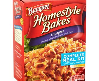 Banquet Homestyle Bakes – Baked Lasagna and Baked French Bread