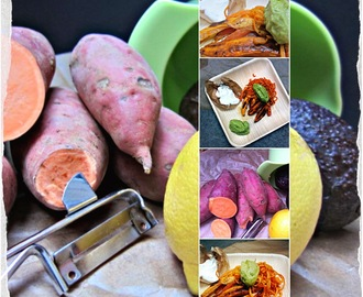 Sweet potatoe Fritten mit Avocado - Dip...