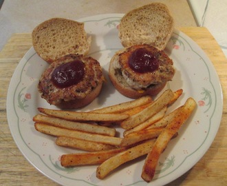 Turkey Sliders and Baked Fries