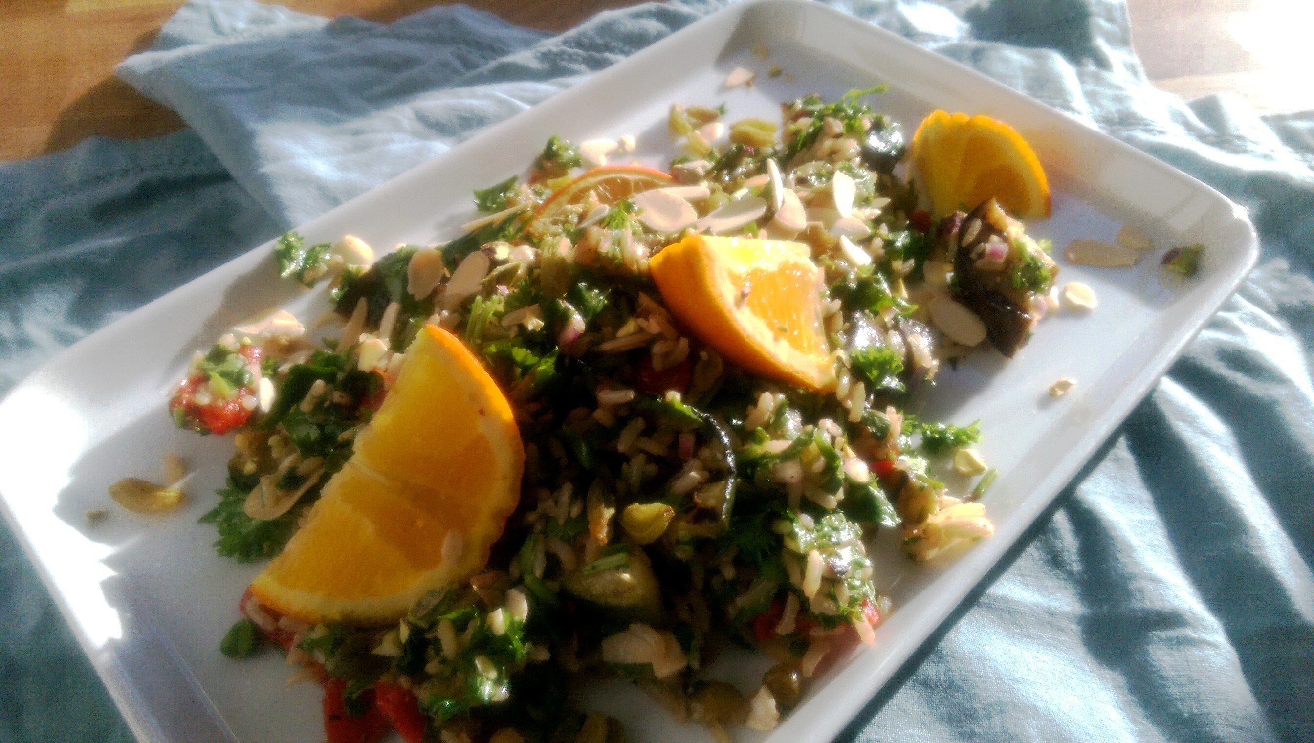 Persian Rice Salad with Grilled Vegetables