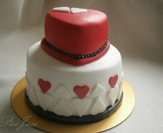 Black&White&Red cake