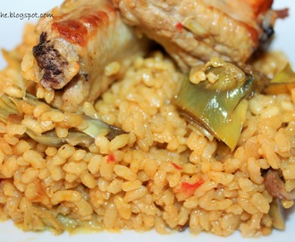 Arroz con verduras y costillas