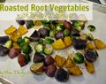 Roasted Root Vegetables with Brussels Sprouts