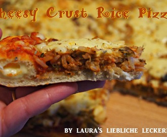 ♥ Cheesy Crust Rice Pizza ♥