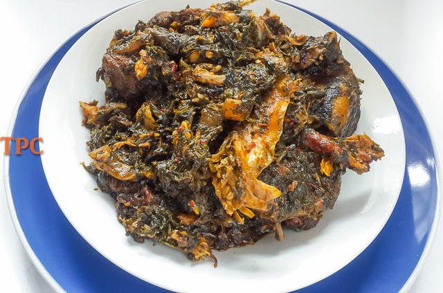 AFANG SOUP, Nigerian vegetable soup