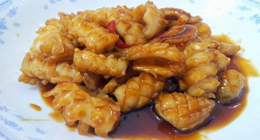 Crispy Fresh Cuttlefish in Sweet and Sour Sauce Recipe