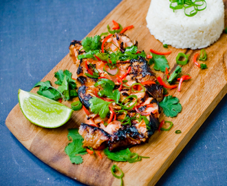 Honey & Soy Salmon with Infused Coconut Rice