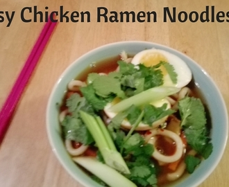 Easy Chicken Ramen Noodle Bowl