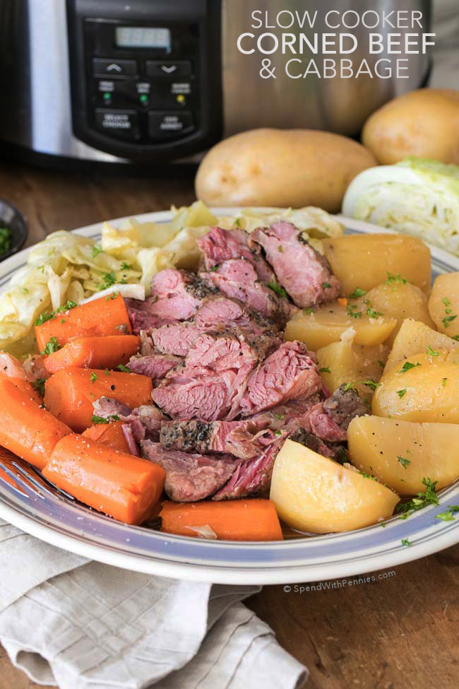 Corned Beef and Cabbage Slow Cooker Recipe