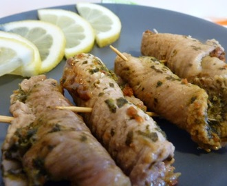 Involtini light al pesto di spinaci e pomodorini