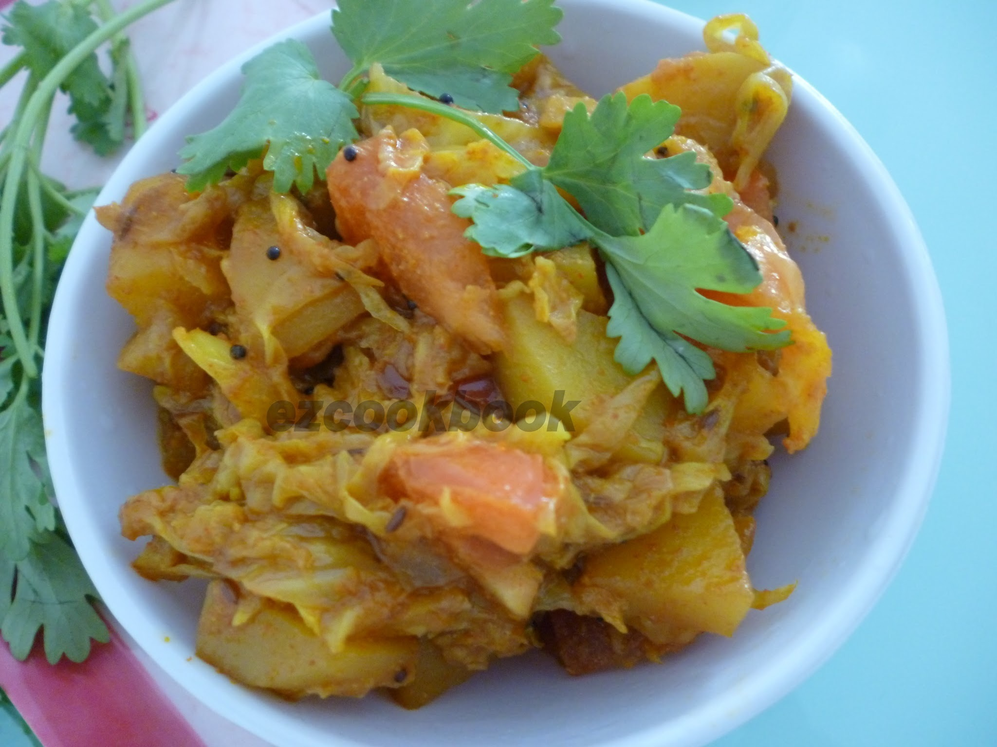 Cabbage Potato Curry