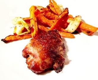 Recettes de cuisse de poulet au four peau croustillante mytaste - Cuisse de poulet grille au four ...