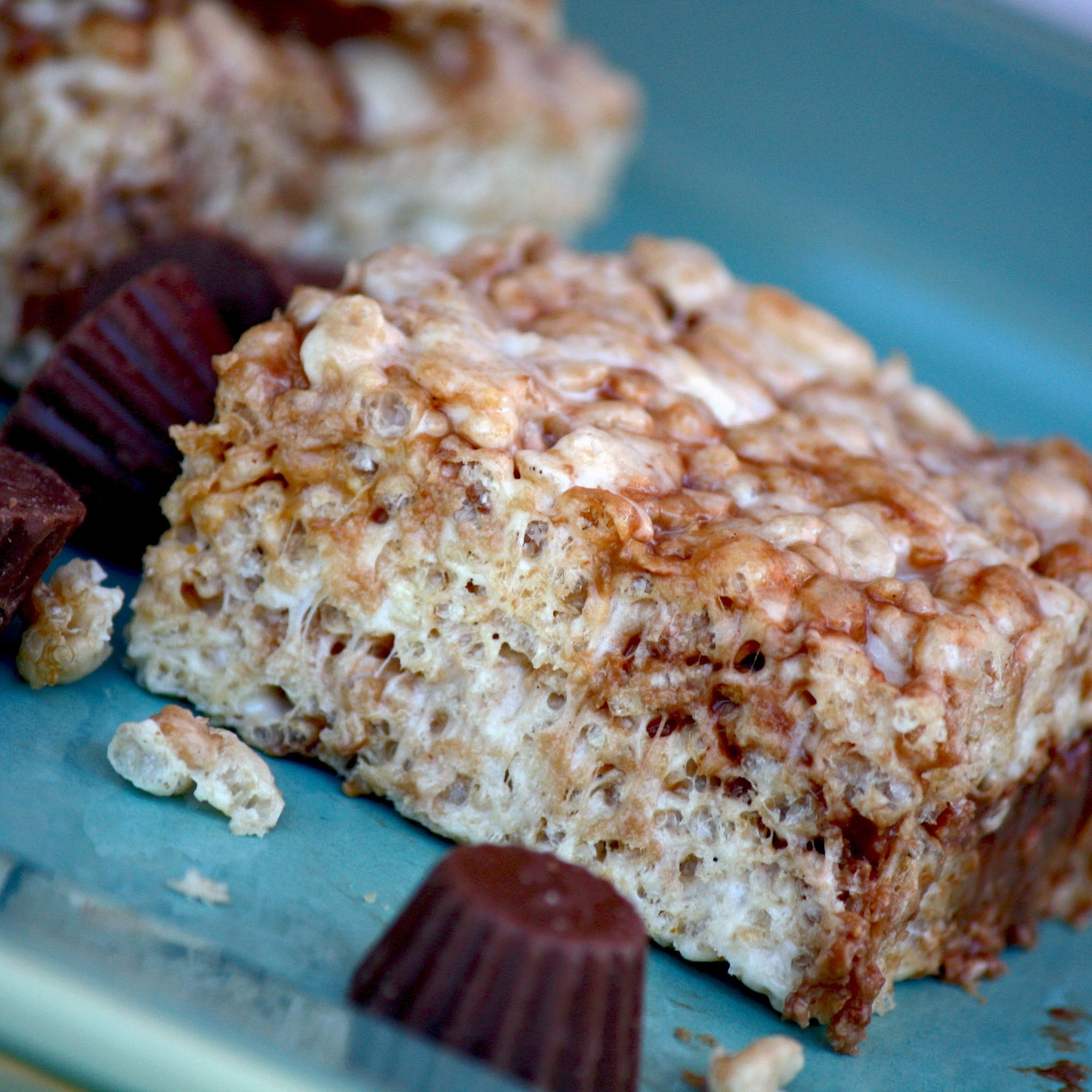 Brown Butter Reese's Rice Crispy Treats