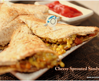 Cheesy Sprouted Sandwich