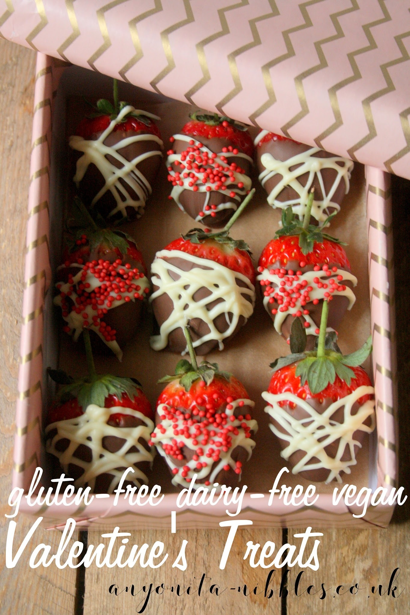 Gluten Free & Vegan Chocolate Strawberries for Valentine's Day