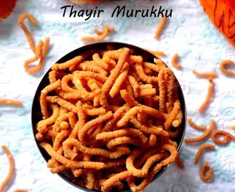 Thayir Murukku - Easy Diwali Snacks Recipe | Ezcookbook