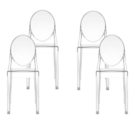 Victoria Ghost Chair 4-pack