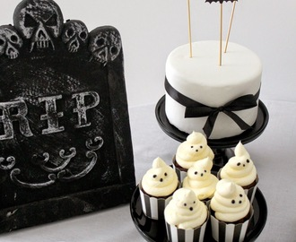 Halloween Sweet Table in Black & White und ein Freebie