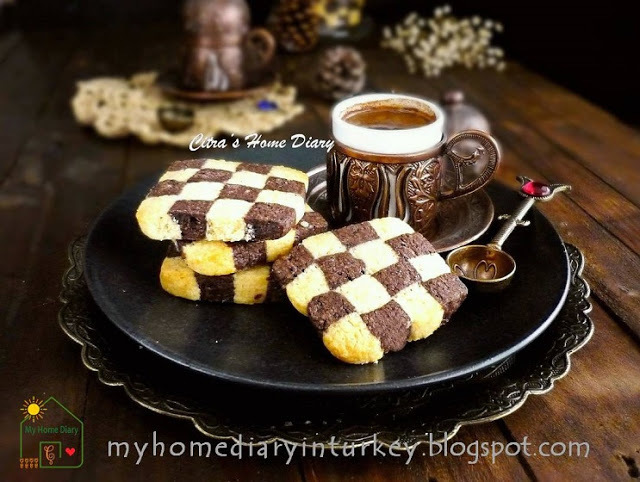 Checkerboard Cookies / Kue Kering Domino